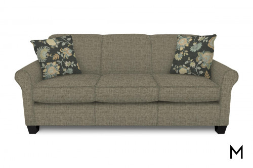 Angie Sofa with Bronte Graphite Pillows