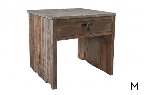 Ellen End Table with Stone Top