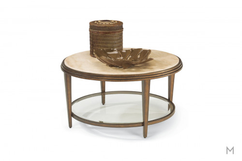 Seville Round Coffee Table with Marble Top