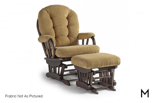 Sona Glider Rocker with Ottoman