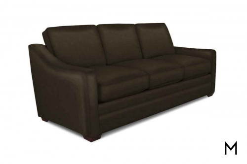 M Collection Sylvia Leather Sofa