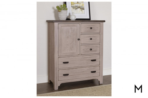 Bungalow Door Chest in Dover Grey & Folkstone
