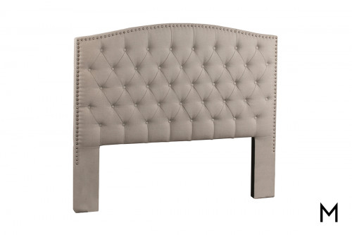 Lila King Upholstered Headboard in Dove Gray