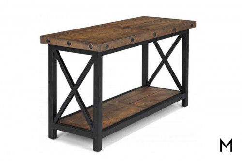Carpenter Sofa Table with Reclaimed Wood
