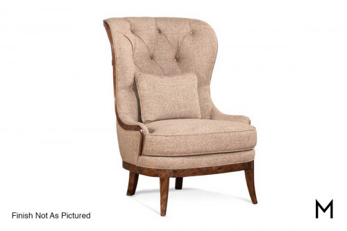 Tufted Accent Chair in Taste Brindle