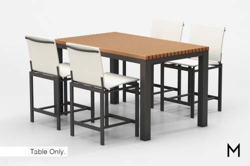 Bar Height Patio Dining Table