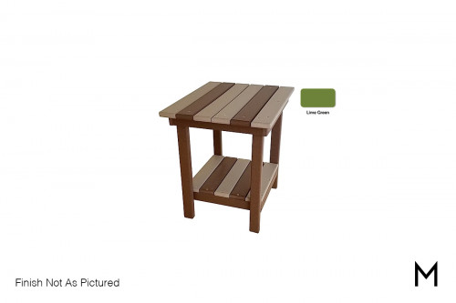 Outdoor End Table in Lime Green