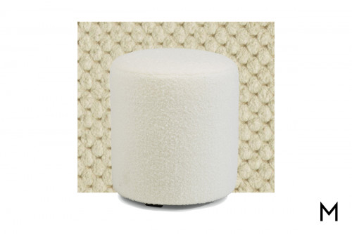 Tall Round Pouf in Cream