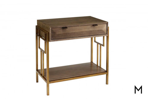 Woodwright Ennis Nightstand with Champagne Finish