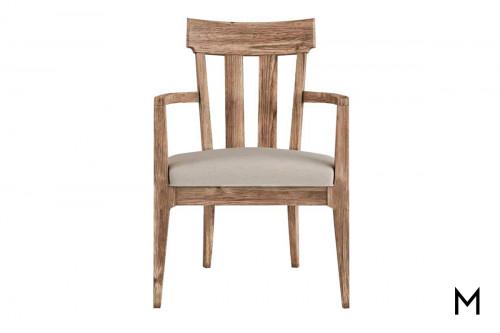 Slat-Back Host Arm Chair