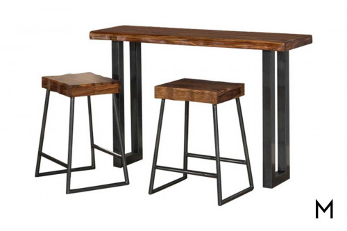 Emerson 3 Piece Dining Set with Two Non-Swivel Counter Stools