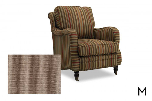 Tyler Club Chair in Sable Stripe