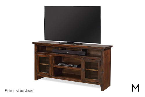 "Alder 2 Door 65"" TV Console with Brindle Finish"