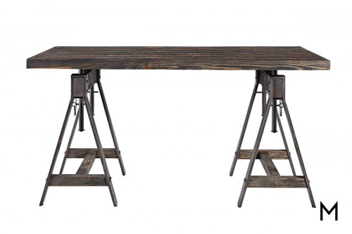 Industrial Sawhorse Adjustable Height Table