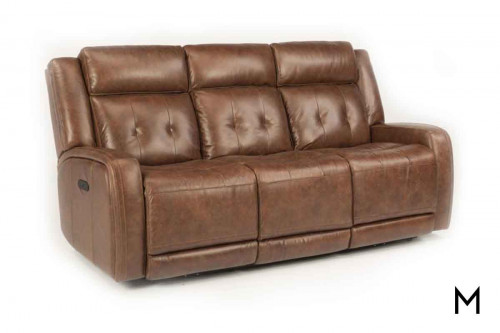 Jude Leather Power Reclining Sofa with Power Headrests and Footrests
