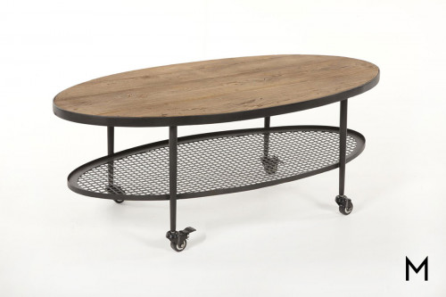 Opal Cocktail Table in Elm & Iron