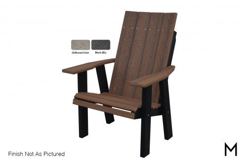 Contemporary Chair in Driftwood and Black