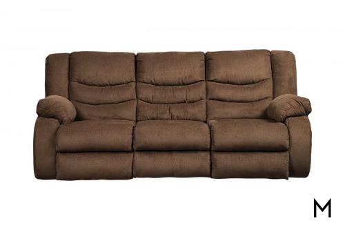 Tulen Reclining Sofa in Chocolate Brown