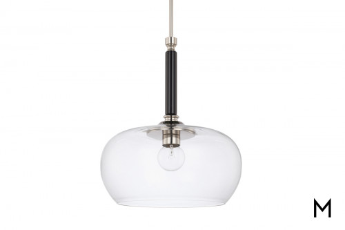 Black and Silver Pendant Light