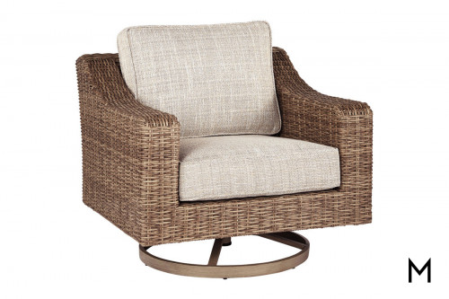 Woven Patio Swivel Lounge Chair