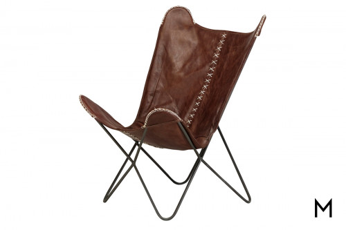 M Collection Paxton Leather Chair