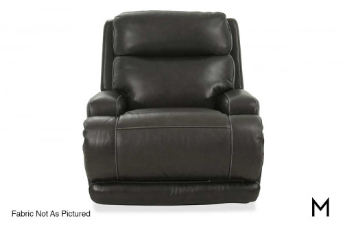M Collection Caesar Power Headrest Recliner in Taupe