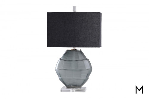 Contemporary Charcoal Glass Table Lamp