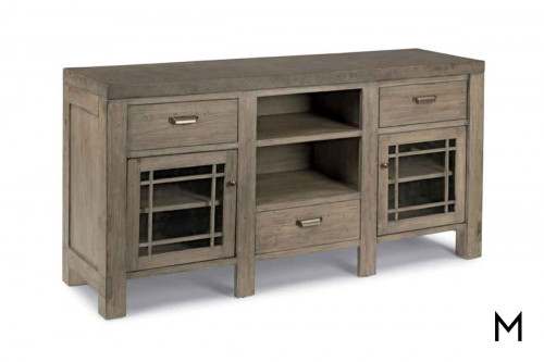 Keystone Entertainment Console with Concrete Top