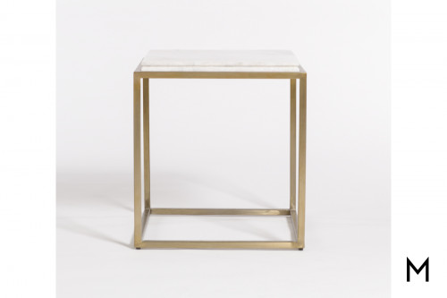 Beckett End Table with Marble Top