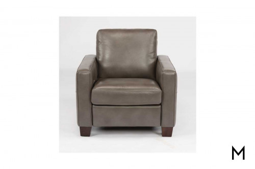 Britton Power Recliner in Gray Leather