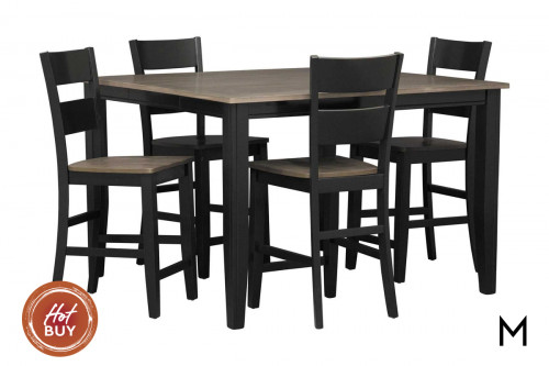 Earl 5-Piece Counter Height Set