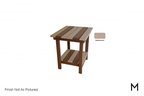 Outdoor End Table in Weatherwood