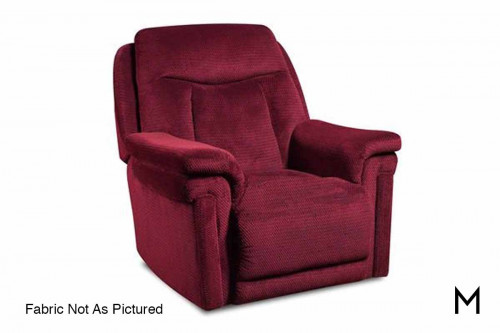 M Collection Masterpiece Rocker Recliner Color in Chocolate