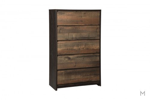 Windlore 5 Drawer Chest with Rustic Finish