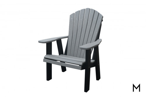 Driftwood Wood and Gray Patio Chair