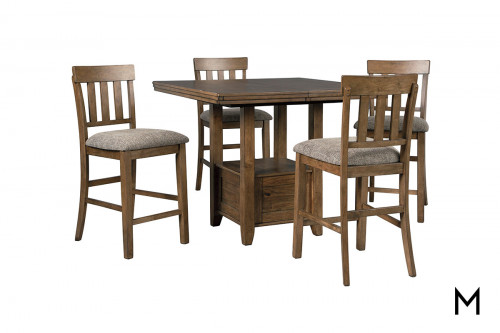 Flaybern 5 Piece Counter Set with Table & 4 Chairs