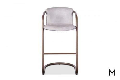 Portofino Antique Bar Chair in White