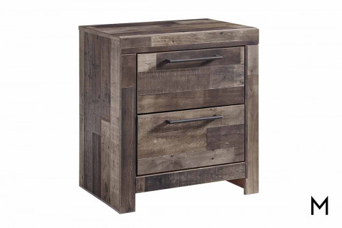 Derekson Barnwood Nightstand with USB charger