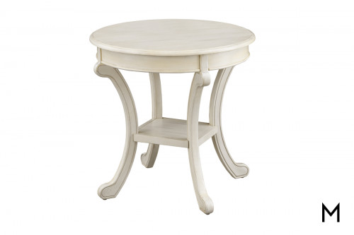 Round Accent Table in Cream