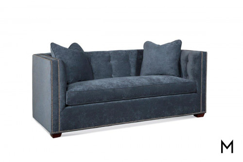 Spartan Peacock Settee with Nailhead Trim