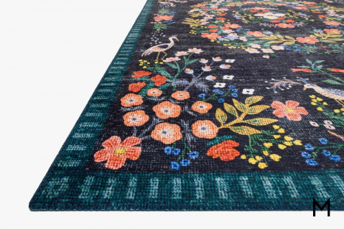 Palais Runner Rug 2'x7' in Black