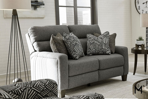 M Collection Mt. Vernon Love Seat in Ella Slate