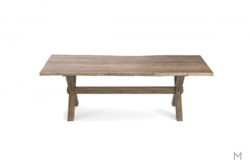 "Live Edge 90"" Rectangular Dining Table in Fawn"