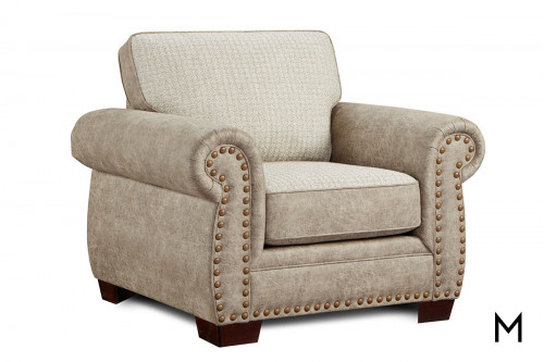 Northwest Paloma Chair and a Half with Nailhead Trim