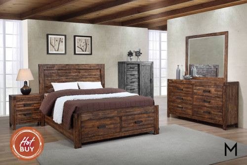 Rustic 4-Piece Bedroom Set - Full