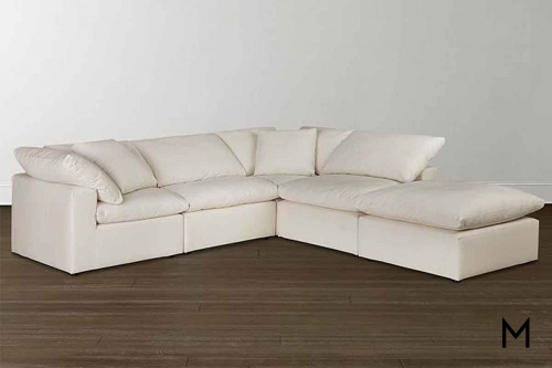 Envelop Sofa & Ottoman in Bone White