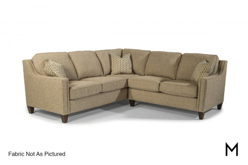 Finley Sectional Sofa in Mushroom