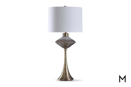 Diamond Art Glass Table Lamp with LED Nightlight
