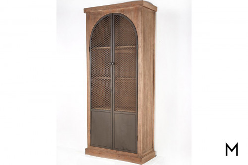 Arch Cabinet with Iron Mesh Doors