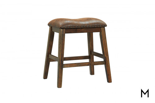 Chaleny Backless Counter Stool with Upholstered Seat